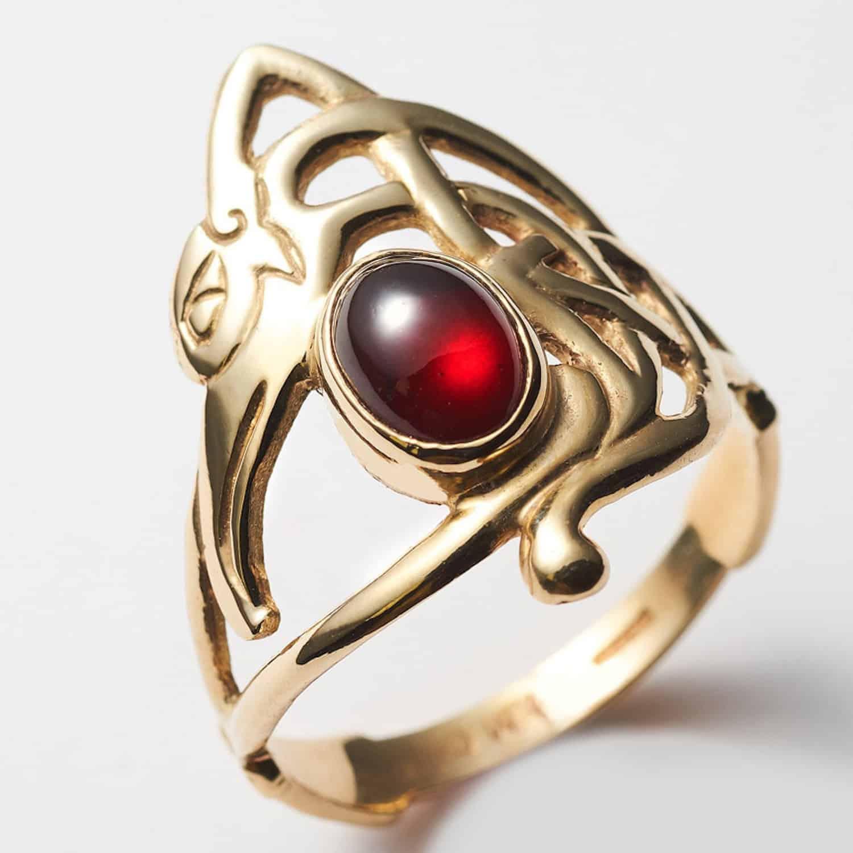 Garnet Eagle Ring