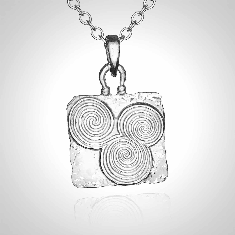 Square Newgrange pendant