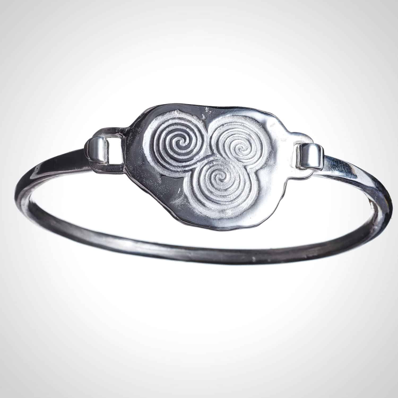 Silver Newgrange Bangle